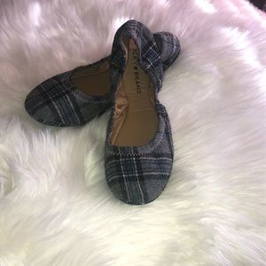 NEW Lucky Brand Plaid Flats